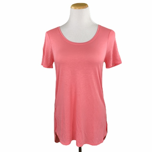Coral Hi/Low Short Sleeve Tunic